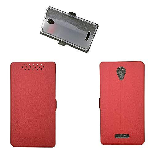 Qiongnian Schutzhülle für Alcatel Pop 4 Plus, Abdeckung für TCL Optus X Smart 4G 5056I, Hülle für Alcatel One Touch Pop 4+ 5056A 5056E 5056G 5056D 5056X Schutzhülle Hülle Cover Rot