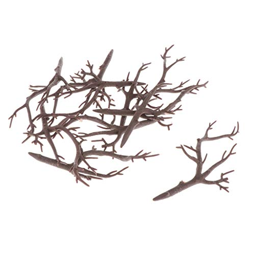 kowaku 10pcs Reindeer Elk Antler Crafts for Hair Accessory Hoome Wall Party Decors