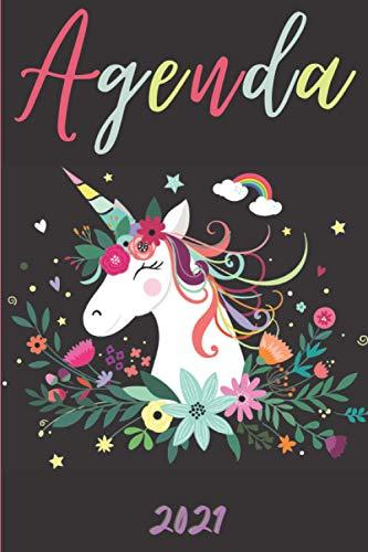 Agenda 2021 Unicornio: Agenda 2021 semana vista Unicornio - una Semana en dos Páginas - organizador - planificador semanal y mensual 12 meses A5 - ... para mujer hombre & unicorn horses lovers