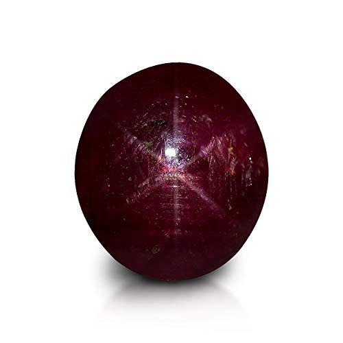 GemPundit Star Ruby 2.16 quilates certificado AGR piedra natural sin calentar – 2.4 Ratti