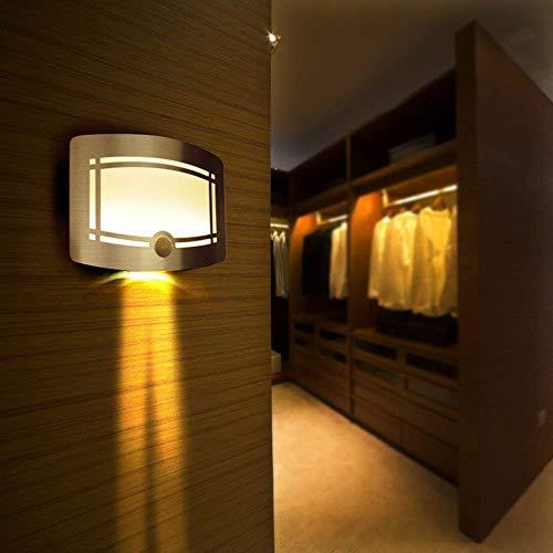 LEADSTAR 10 LED Bewegungsmelder Wandleuchte drahtlos batteriebetriebene Nachtleuchte für Treppenhaus Korridor Garten Garage - Warmweiß