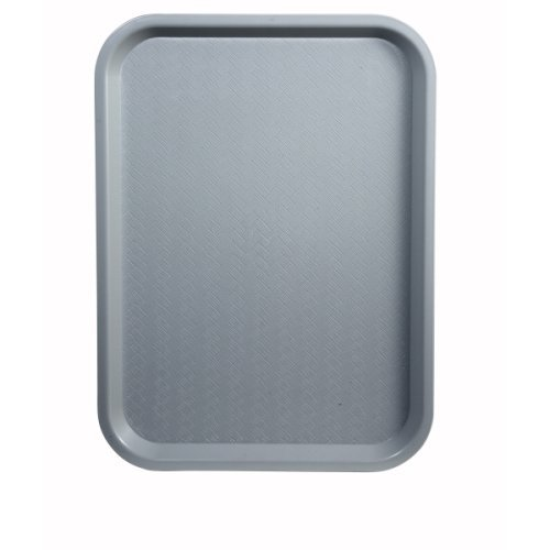 Winco Fast Food Tray, 14 by 18-Inch, Gray, Set of 12 -  FFT-1418E