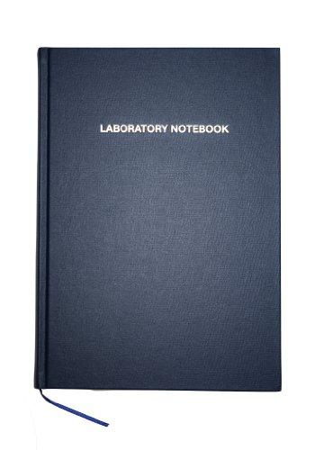 Logix Books® GLP Laboratory Notebook/Cuaderno de Laboratorio, A4, Cuadriculado (5mm), Azul, 96 páginas, Encuadernación cosida, (LOGIX-A4R-096-G) [Tapa Dura]