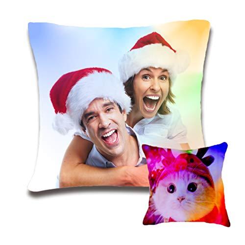 hjsadgasd Personalisierte beleuchten Kissen Liebes-Fotos, Hochzeits-Andenken-Kissen-Weihnachtsthrow-Kissen-Geschenk mit Kissenkern