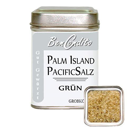 BenCondito I Grünes Hawaii Salz I grobes grünes Meersalz mit Bamusblätter Extrakt 130 gr. Dose