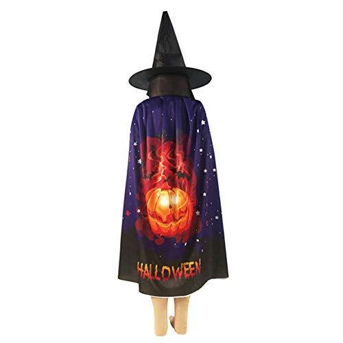 Yalatan Mode Cos Witch Wizard Cope Mantel für Halloween, Kostüm Kinder Maskerade Dress Up Mantel Cos Requisiten für Frauen Männer
