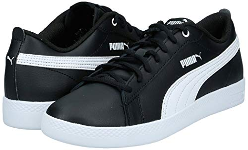 Puma Puma Damen Smash WNS v2 L Zapatillas, Schwarz Black White, 37 EU