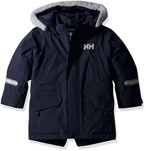 Helly Hansen Isfjord Parka à capuche imperméable pour enfants et bébés, Enfant et bébé, 40341, Bleu marine 598., Size 9