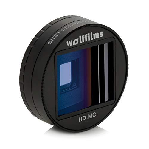 Wolffilms Anamorphic Lens Smartphone Pro Filmmaking Video Objektiv passend für iPhone, Samsung & Huawei für breite anamorphe Videos im Kino Filmlook geeignet für iPhone, Samsung und Huawei Handys