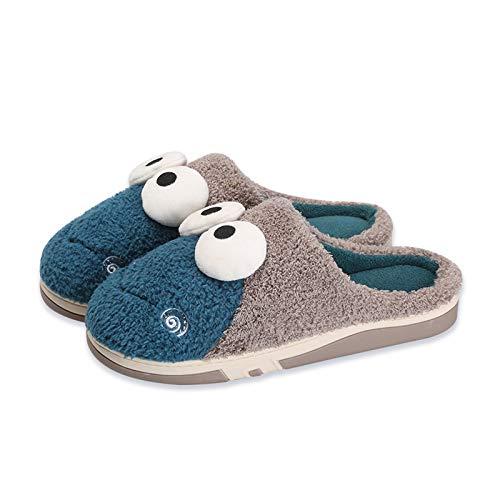 CJshop Zapatillas de Casa Zapatillas de algodón Infantil Muebles for el hogar en Interiores Niños for Padres-niño otoño e Invierno Caliente Calientes DRAGA Menos Y Mujeres Antideslizantes Zapatillas