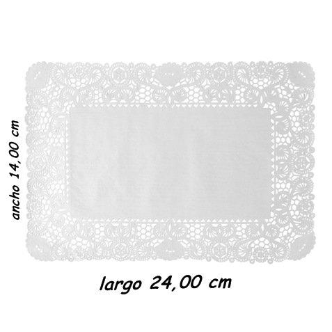 Sumicel Blonda Rectangular para decoración 14 x 24 cm, Caja de 2000 Unidades