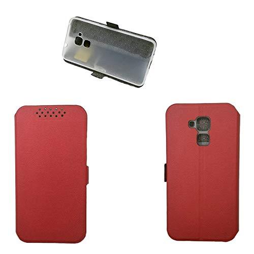 Hülle für Huawei GT3 Hülle Leder ,Hülle für Huawei GT3 NMO-L02/L03 NMO-L22/L23 NMO-L31 / Honor 5C NEM-L21 NEM-L51 NEM-TL00H NEM-UL10 NEM-AL10 / Honor 7 Lite Hülle Klapphülle Handytasche Hülle Red