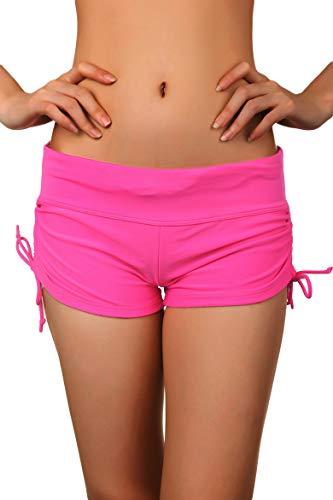 Damen Badehose Bikinihose Farbe-Rosa - M