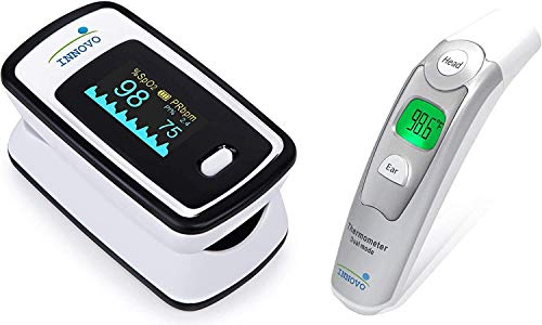 Innovo iP900AP Fingertip Pulse Oximeter and Forehead and Ear Thermometer Bundle
