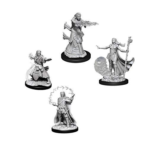 Dungeons & Dragons Nolzur's Marvelous Unpainted Miniatures Bundle: Male Human Wizard W11 + Female Human Wizard W11