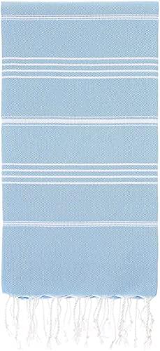 Captain&Mermaid® Premium XXL Strandtuch 100% Baumwolle | Badetuch | Picknickdecke | 220x160 | Peshtemal | leicht & extra groß (Blue Ocean)