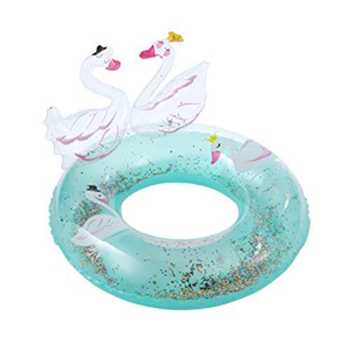 Delisouls Anillo de natación para niños, anillo de natación de cisne tridimensional, anillo de natación inflable de flamenco para niños verano playa fiesta piscina