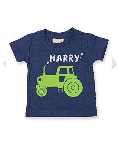 Ice-Tees T-shirt personnalisé pour bébé/enfant Motif tracteur Big Farm - Bleu - 3-4 ans