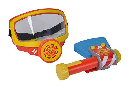 Simba 109252476 - Feuerwehrmann Sam Feuerwehr Sauerstoffmaske / mit Gummizug / mit Axt