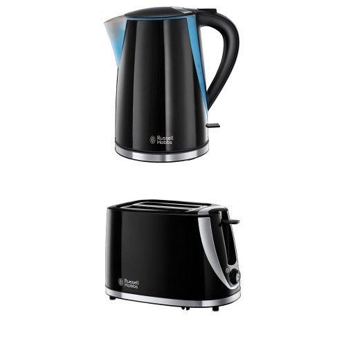 Russell Hobbs Mode Kettle + 2-Slice Toaster, Black