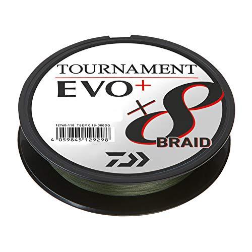 Daiwa Tournament X8 Braid EVO+ 0,12mm 135m Dunkelgrün geflochtene Angelschnur