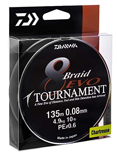 Daiwa Tournament 8 Braid EVO 0.18mm, 15,8kg/34,7lbs 135m dunkelgrün