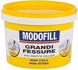Modofill - Masilla de pasta para rellenar grandes agujeros y agujeros en la pared. Alto relleno, blanco, 1 kg.