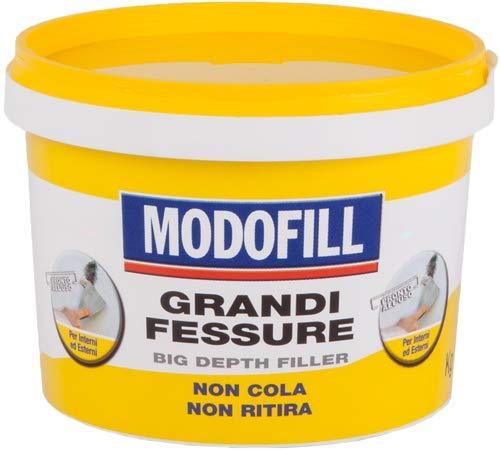 MODOFILL - Masilla Tapagrietas en Pasta Lista Para Usar - Para Rellenar Grandes Agujeros y Grietas en las Paredes. Alto Relleno, Blanco, 1 kg.