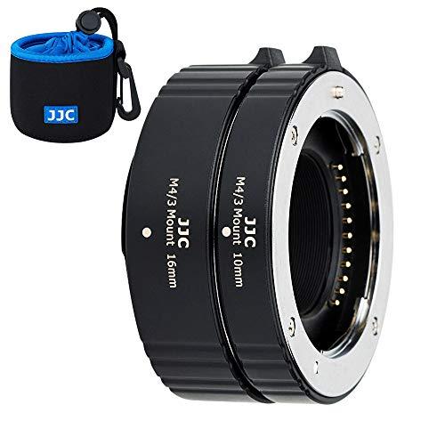 JJC Autofokus AF Zwischenringe 10MM 16MM für Olympus M4/3 Mount E-M5 III E-M1X E-M10 III E-PL9 E-PL8 E-PL7 Panasonic G95 G90 G9 GH5 GX9 GX85 DSLR Kameras Objektiv