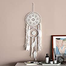 CHICIEVE White Dream Catchers Handmade White Lace Dream Catcher Wall Hanging Home Decoration for Bedroom Teen Room Wall Ornament Decor Ornament Craft Gift 9.8