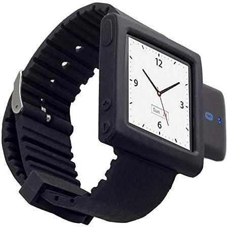 Kokkia I10swatch The Ultimate Watch I10s Lujoso Negro Con Iwatch Negro Ipod Nano 6g Correa De Muñeca Pequeño Transmisor Bluetooth Ipod Con Ipod Nano 6g Correa De Muñeca Ipod Nano No