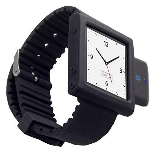 KOKKIA i10sWatch: Die ultimative Armbanduhr. Tiny i10s (in luxuriösem Schwarz) Bluetooth iPod Transmitter mit schwarzem iPod Nano 6G Armband (iPod Nano nicht enthalten).