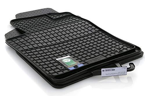 Paßform Gummi Fußmatten Gummifußmatten 4-teiliger Satz für Mercedes B-Klasse W246 ab 11/2011 Original Qualität Auto Gummimatten Tuning 4-teilig schwarz