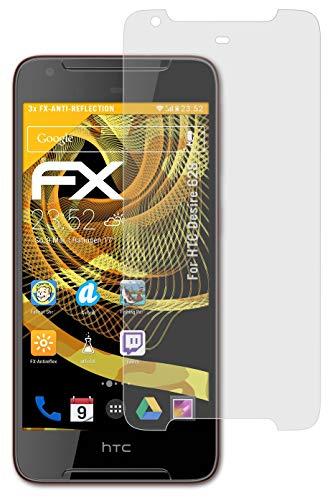 atFolix Panzerfolie kompatibel mit HTC Desire 628 Schutzfolie, entspiegelnde & stoßdämpfende FX Folie (3X)