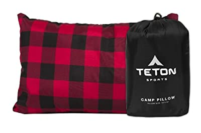 TETON Sports Camp Pillow; Great for Travel, Camping and Backpacking; Washable, Black
