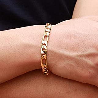 2015 Fashion 18K Gold Plated Individual Cool Chain Men Bracelet as Gift for Male b6 KS157