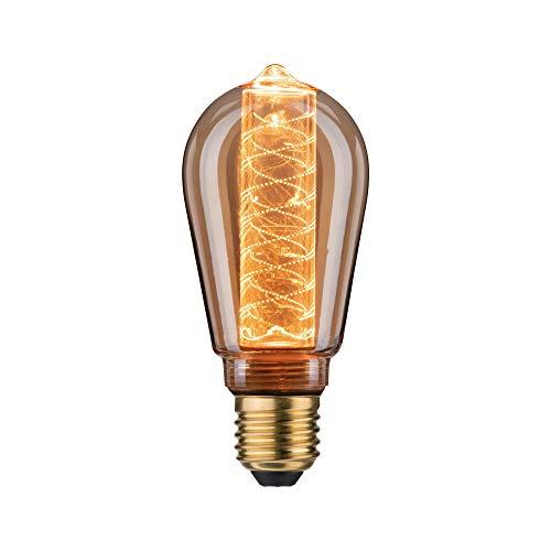 Paulmann 28598 LED Vintage Lampe ST64 Inner Glow, 1879 Gold Edition, Ø64 mm, 4W, 200 lm,  E27, Gold, mit Innenkolben Spiralmuster, Retro Leuchtmittel, Goldlicht 1800 K