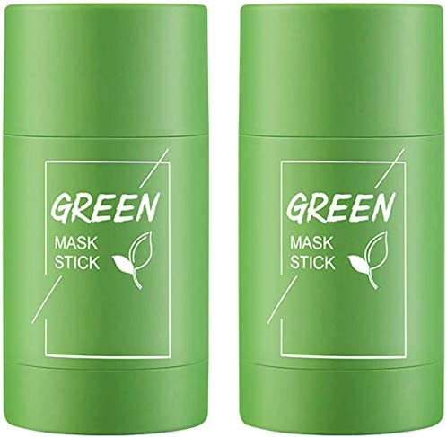 2 bottles Green Tea Purifying Clay Stick Mask Exfoliating Mask Removes Blackheads And Deep Cleansing product image