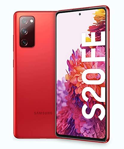 "Samsung Smartphone Galaxy S20 FE, Display 6.5"" Super AMOLED, 3 fotocamere posteriori, 128 GB Espandibili, RAM 6GB, Batteria 4.500mAh, Hybrid SIM, (2020), Rosso (Cloud Red)"