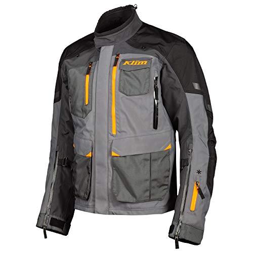 KLIM Motorradjacke Carlsbad Redesign Jacket ADV Jacke Gore Tex D3O Level 2, Asphalt Strike Orange, LG