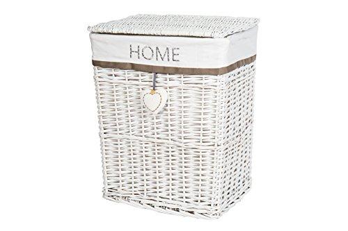 Wäschekorb weiß aus Weide Wäschsammler WS640