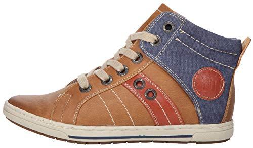 MARCO TOZZI Mädchen Hochschaft-Sneaker dk.Curry a.com, Größe Kinder:33 EU