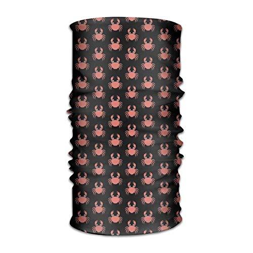 dingjiakemao Red Crab Pattern Versatile Outdoors Daily Stylish Headwear Multifunctional Sport Headband Sweatband,Magic Scarf,Head Wrap,Neck Gaiter,Bandana,Helmet Liner, Balaclava,Tube Mask
