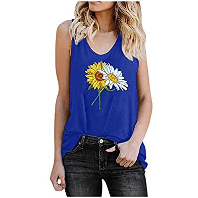 Amazon - Save 80%: Tops for Women, Womens Summer Cute Printed Vest Tshirt Sleeveless Workout…