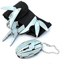 Portable Multi Function Folding Pocket Tools Plier Knife Keychain Mini Stainless Steel Foldaway Keychain Screwdriver,By Veizn
