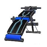 Tingeart Multifonction Sit-up Fitness lit, Banc de Musculation réglable et Pliable Multi-Usage incliné pour Équipement de Fitness Sportif à Domicile, Charge 250kg, Fitness à Domicile, Noir B