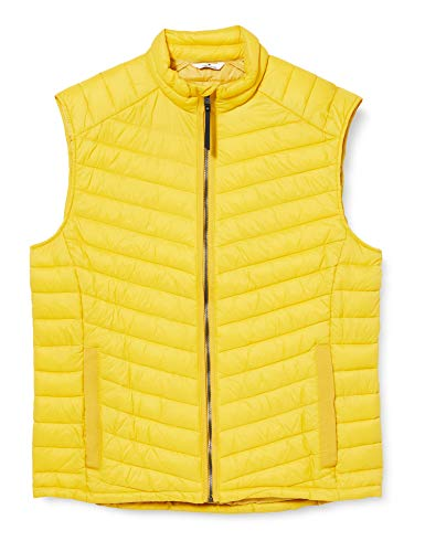 TOM TAILOR Herren Lightweight Steppweste, Californian Yellow, L