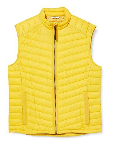 TOM TAILOR Herren Lightweight Steppweste, Californian Yellow, L