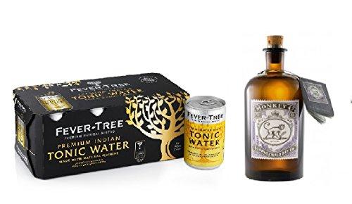 Monkey 47 Gin (1 x 0.5 l) und Fever-Tree Tonic Water ( 8 x 0.15 l) inc. EINWEG Pfand