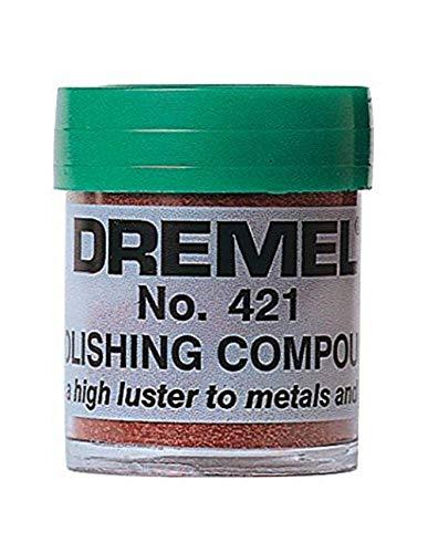 Dremel 421 Polijstpasta (accessoire voor multifunctioneel gereedschap, polijstpasta voor het polijsten van metaal en kunststof)